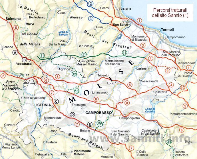 Cartina Del Molise Geografica.Sanniti Il Territorio Del Sannio
