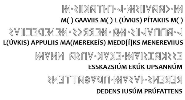 Risultati immagini per iscrizione osco sannita della campanella