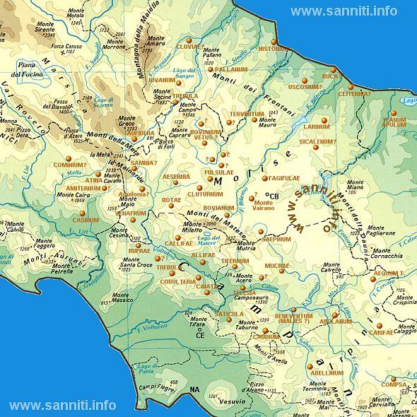Italia Centro Meridionale Cartina.Sanniti Il Territorio Del Sannio